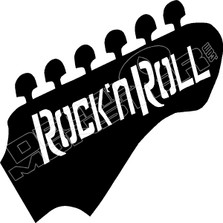 Rock 'n Roll Guitar Decal Sticker