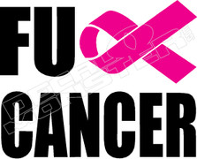 Fuck Cancer Decal Sticker.