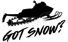 Got Snow Sled Decal Sticker
