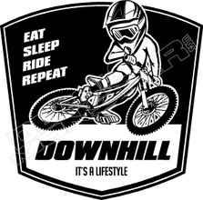 Downhill It's a Lifestyle Mountainbike Decal Sticker