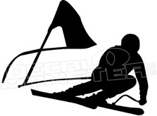 Downhill Skier Racer Decal Sticker