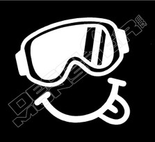 Ski Goggles Happy Face Decal Sticker