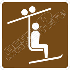Ski Chair Lift Sign Decal Sticker