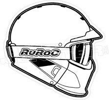 Ruroc Ski Snowboard Helmet Decal Sticker