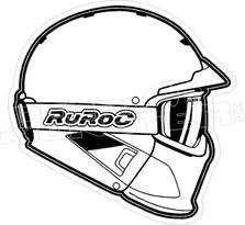 Ruroc Ski Snowboard Helmet Decal Sticker