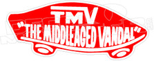 TMV the Middleaged Vandal Vans Parody Decal Sticker
