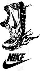 Nike Flaming Sneaker Decal Sticker