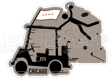 Travis Mathew Beer Golf Cart Chicago Decal Sticker