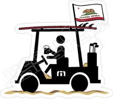 Travis Mathew Beer Golf Cart California Decal Sticker