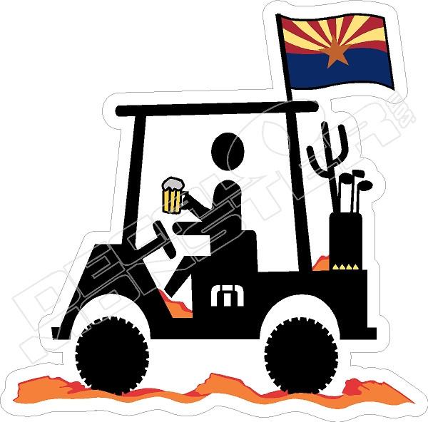 Travis Mathew Beer Golf Cart Arizona Decal Sticker Decalmonster Com