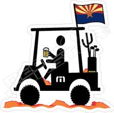 Travis Mathew Beer Golf Cart Arizona Decal Sticker