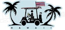 Travis Mathew Beer Golf Cart Hawaii Decal Sticker