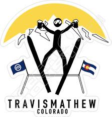 Travis Mathew Colorado Beer Ski Jump Team Golf Decal Sticker