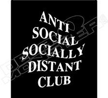Anti Social Socially Distant Club Covid-19 Corona Virus Decal Sticker