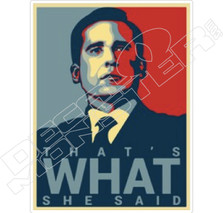 That's What She Said The Office Decal Sticker