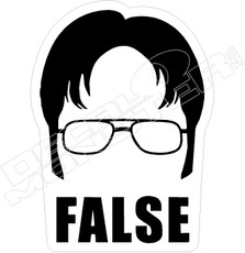 False The Office Decal Sticker
