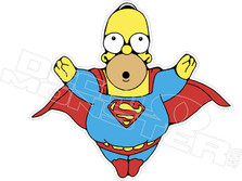 Super Homer Simpsons Decal Sticker
