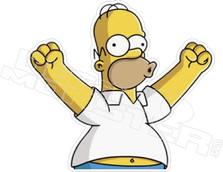 Woo Hoo Homer Simpsons Decal Sticker