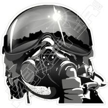 Fighter Pilot Helmet Decal Sticker
