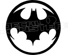 Bat Symbol Circle Decal Sticker