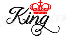 King Crown Wording Decal Sticker