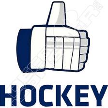 Thumbs up Like Hockey Decal Sticker