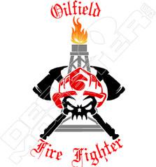 Oilfield Fire Fighter Decal Sticker