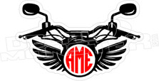 Motorcycle Front Monogram Decal Sticker
