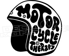 Motor Cycle Therapy Helmet Decal Sticker