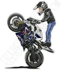 Motorcycle Stunt Guy Superbike Decal Sticker