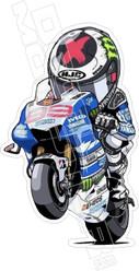 Motocycle Racing Guy Wheelie Superbike Decal Sticker