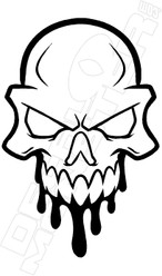Dripping Skull 2 Decal Sticker