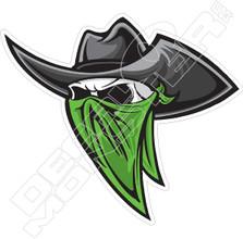 Cowboy Bandit Decal Sticker