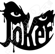 Joker Smile Decal Sticker
