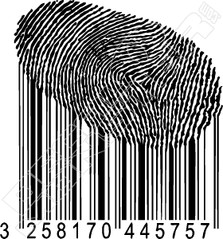 Thumb Print Barcode Decal Sticker