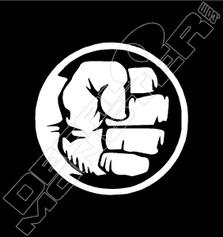 Fist Smash Decal Sticker