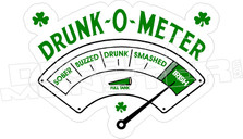 Drunk-O-Meter Irish Drinking Decal Sticker