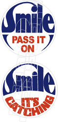 Smile Pass It OnLabatt's Stubby Beer Decal Sticker