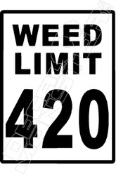 Weed Limit 420 Decal Sticker