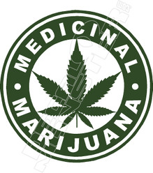 Medical Marijuana Decal Sticker
