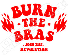 Burn The Bras Decal Sticker
