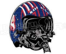 Maverick Top Gun Helmet Decal Sticker