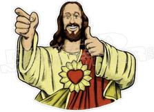 Buddy Jesus Smile Thumbs Up Decal Sticker