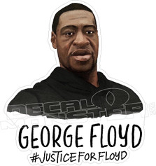George Ffloyd #Justice for Ffloyd Black Lives Matter Decal Sticker