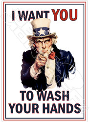 I Want You to Wash Your Hands Uncle Sam Covid Decal Sticker