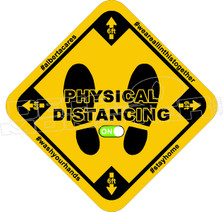 Physical Distancing ON Covid Decal Sticker