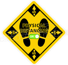 Physical Distancing ON 2 Covid Decal Sticker
