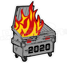 Dumpster Fire 2020 Covid Decal Sticker