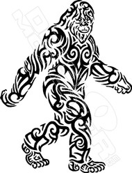Tribal Big Foot Sasquatch Decal Sticker