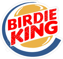 Birdie King Golf Decal Sticker